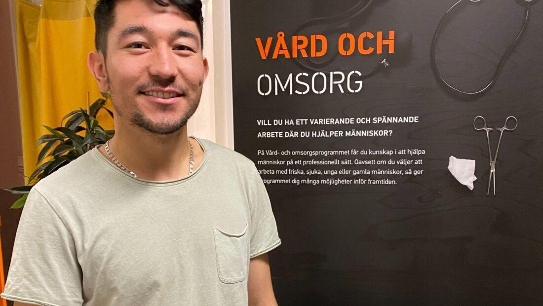 Ibrahim på Vård och omsorg Praktiska Gymnasiet Kalmar