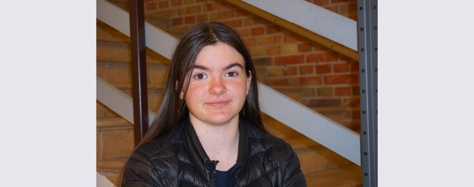 Elna, elev på Praktiska Gymnasiet Ystad
