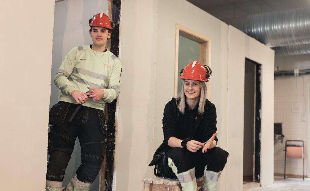 Elever på Bygg- och anläggningsprogrammet från Praktiska Gymnasiet