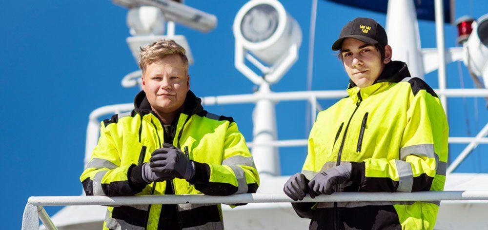 Elever ombord på ett fartyg