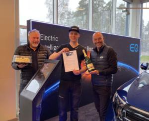 Jonathan Asp får Mercedes-Benz TechStar-stipendium